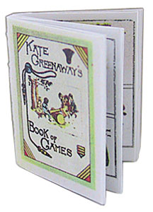Dollhouse Miniature Kate Greenaway's Book Of Ames And Repro
