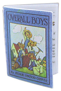 Dollhouse Miniature Overall Boys Antique Repro Readable Book