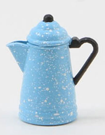 Dollhouse Miniature Blue & White Coffeepot