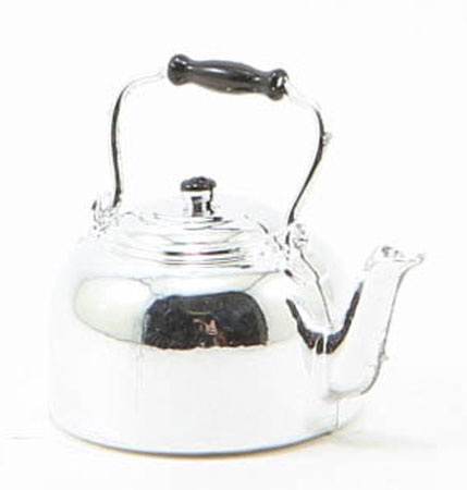 Dollhouse Miniature Silver Tea Kettle