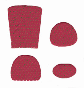 Dollhouse Miniature Cushion Kit, Red Mini Dot