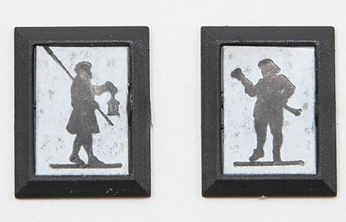 Dollhouse Miniature Town Crier/Lamplighter Silhouettes