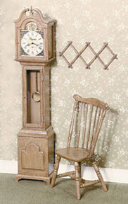 Dollhouse Miniature F-100 Grandfather Clock Kit, Brown
