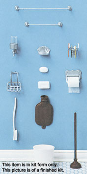 Dollhouse Miniature M-161 Bathroom Accessories Minikit