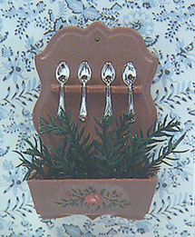 Dollhouse Miniature Decorated Spoon Rack