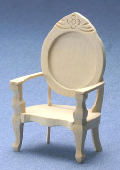 Dollhouse Miniature Chair, Unfinished
