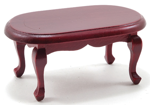 Dollhouse Miniature Coffee Table, Mahogany