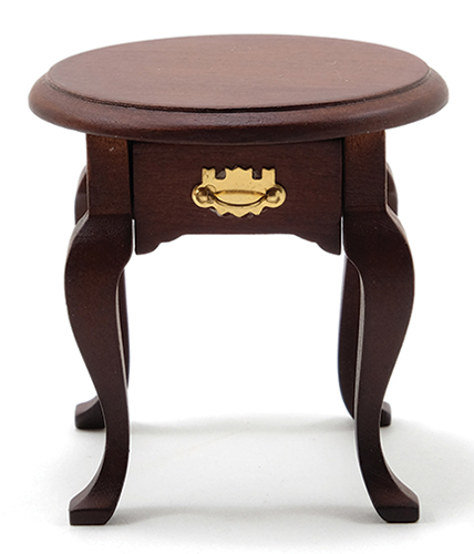 Dollhouse Miniature Occasional Table, Walnut
