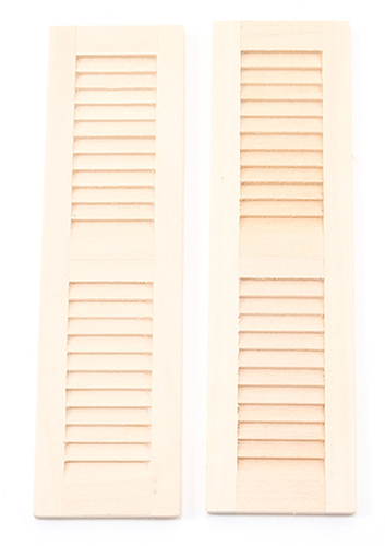 Dollhouse Miniature Louvered Shutters 4-5/8X1-5/16