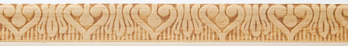 Dollhouse Miniature Embossed Trim: Swans, 11/16 In.