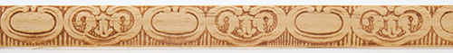 Dollhouse Miniature Embossed Trim: Lily Pads, 11/16 In.