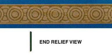 Dollhouse Miniature Embossed Trim: Eclipse, 11/16 In.