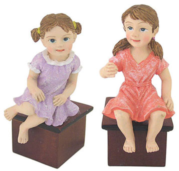 Dollhouse Miniature Big Girl, Assorted, 1Pc