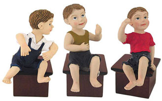 Dollhouse Miniature Sitting Boy Doll Assorted, 1Pc