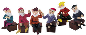 Dollhouse Miniature Medium Gnome 3 1/2 Inch Assorted, 1Pc