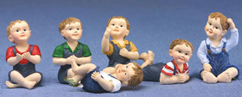 Dollhouse Miniature Young Boy Doll Assorted