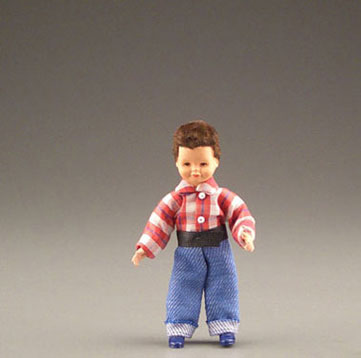 Dollhouse Miniature Little Brother In Jeans