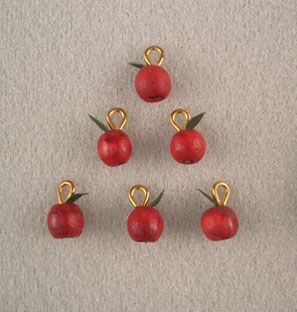 Dollhouse Miniature 6 Apple Ornaments