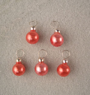 Dollhouse Miniature Red Ornaments, 5/Pk
