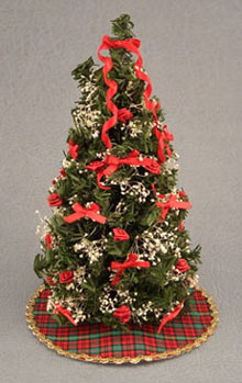 Dollhouse Miniature 6 In. Decorated Ultimate Christmas Tree