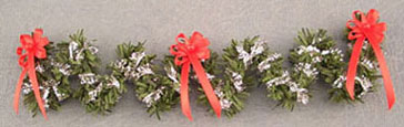 Dollhouse Miniature Red/Silver Stair Garland