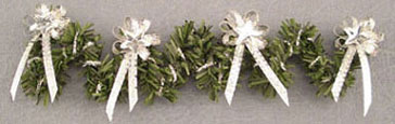 Dollhouse Miniature Silver Star W/Bow Garland