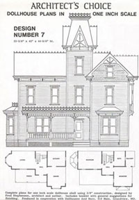Dollhouse Miniature Dollhouse Plan #7
