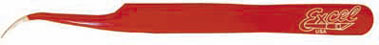 Dollhouse Miniature Red Slant Point Tweezers, Carded