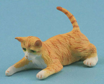Dollhouse Miniature Orange Cat