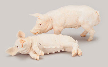 Dollhouse Miniature Pigs - Set Of 2