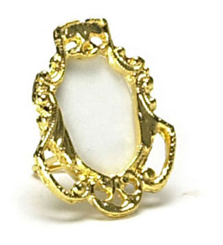 Dollhouse Miniature Small Gold Frame