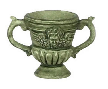 Dollhouse Miniature 2Pcs Urn, Green