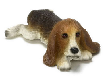 Dollhouse Miniature Basset Hound