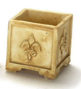 Dollhouse Miniature Square Planter 6Pcs Tan