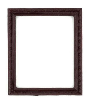 Dollhouse Miniature Frame, Rosewood, 1Pc