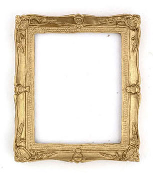 Dollhouse Miniature Gold Frame