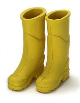 Dollhouse Miniature Rubber Boot Yellow
