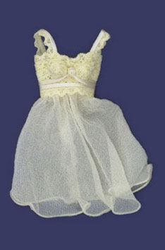 Dollhouse Miniature Short Night Gown Cream