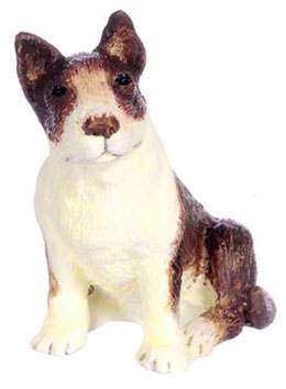 Dollhouse Miniature Bull Terrier