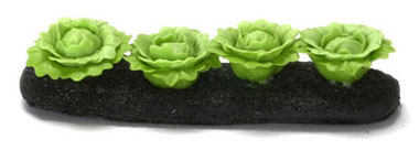 Dollhouse Miniature Green Cabbages Garden