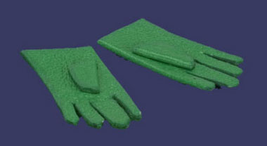 Dollhouse Miniature Glove, 1 Pair Green