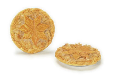 Dollhouse Miniature Traditional Apple Pie, 3Pc
