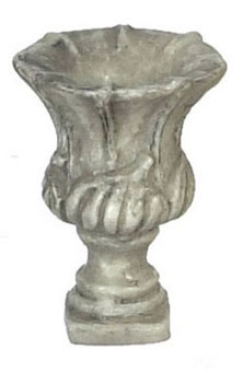 "Dollhouse Miniature 1/2"" Scale Roma Urn, 6 Pc, Gray"