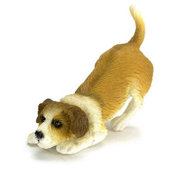 Dollhouse Miniature Sniffing Jack Russel