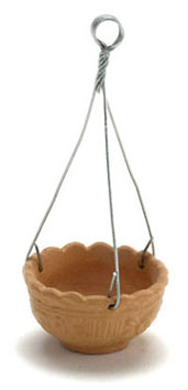 Dollhouse Miniature Hanging Pot, Terra Cotta, 6Pcs