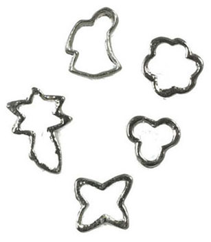 Dollhouse Miniature Cookie Cutter, Set Of 5