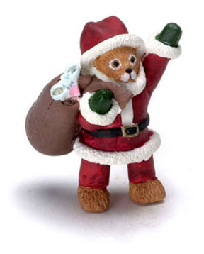 Dollhouse Miniature Santa Bear