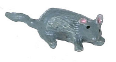 Dollhouse Miniature Gray Mouse