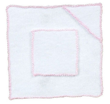Dollhouse Miniature Baby Blanket/ Pink