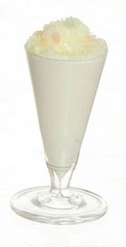 Dollhouse Miniature Vanilla Milk Shake, 2Pc